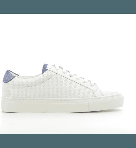 Sneakers en cuir blanc ICA1- Piola