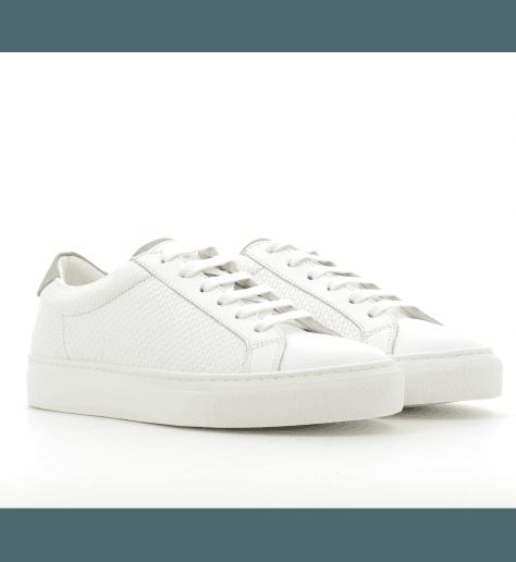 Sneakers en cuir blanc ICA2- Piola