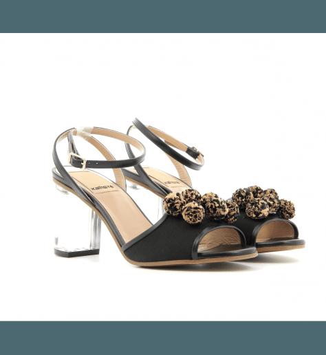 Sandales à talons noir 5022 - Kallisté