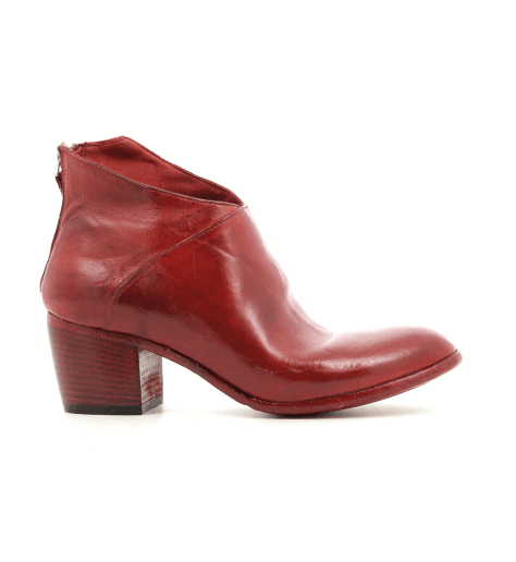 Bottines  cuir rouge AH01ARED - Lemargo