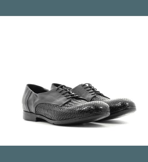 Derbies à lacets cuir noir A105AN - Lemargo