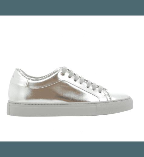 Sneakers en cuir ARGENT BASSO SILVER - PAUL SMITH WOMEN