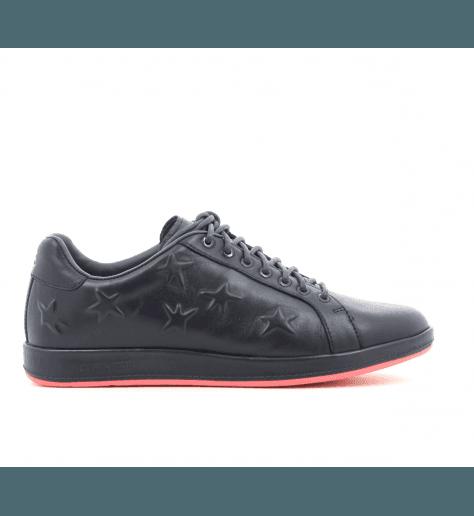 Sneakers en cuir marine et étoiles embossées LAPIN - Paul Smith women