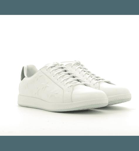 Sneakers en cuir blanc et étoiles embossées LAPIN - Paul Smith women