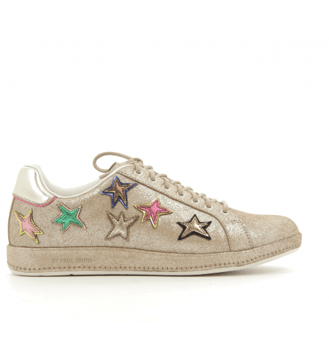 Sneakers en cuir bronze et étoiles brodées LAPIN STARS- Paul Smith women