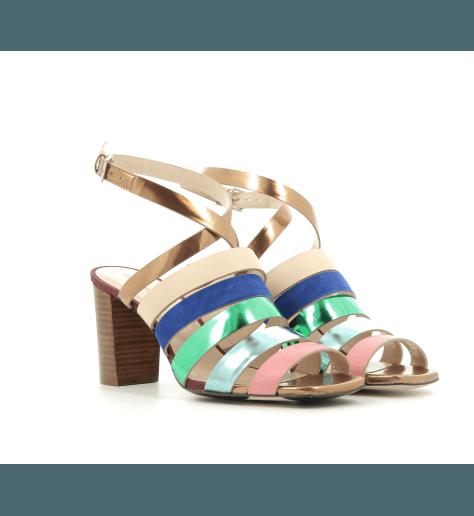 Sandales à talons en cuir multicolore ASA - Ps by Paul Smith