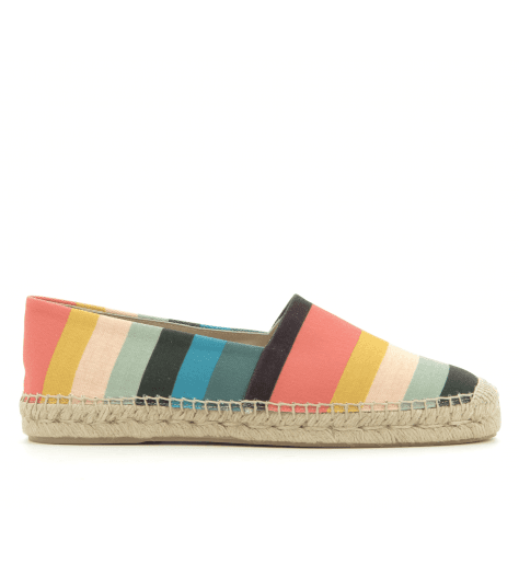 Espadrilles hommes en coton multicolore SUNNY STRIPE - Paul Smith men