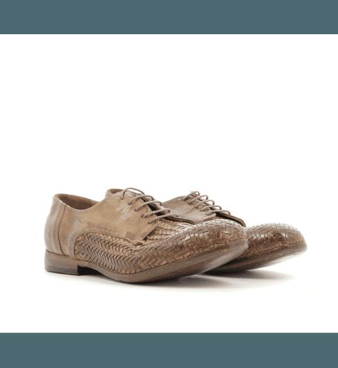 Derbies à lacets cuir camel A105AC - Lemargo