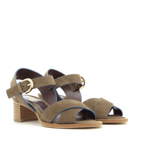 Sandales à talons kaki PAQUES1 - Avril Gau