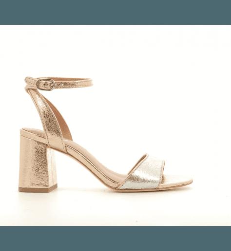 Sandales à talons metallisées QUARTZ - Ash