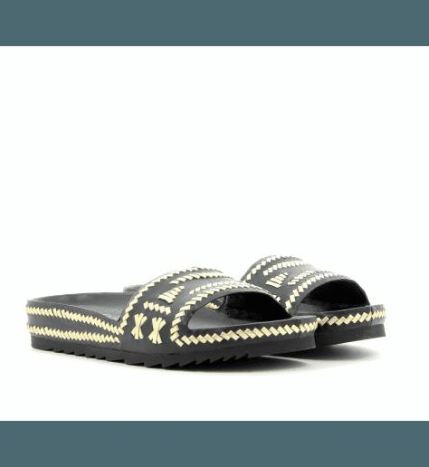 Sandales mules à semelles anatomiques noir ULLA - Ash