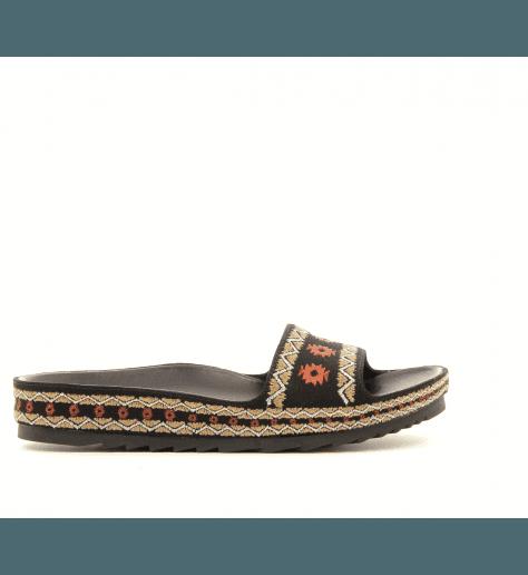 Sandales mules à semelles anatomiques noir UMA - Ash