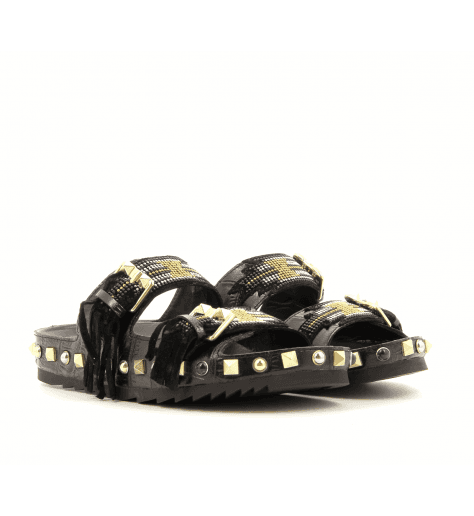 Sandales mules à semelles anatomiques noir UTAH - Ash