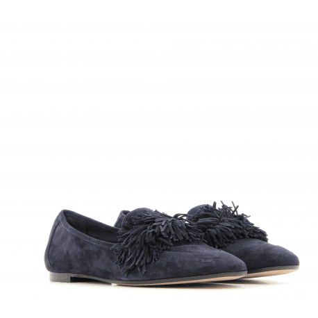Mocassins en velours bleu WILD LOAFER FLAT- Aquazzura