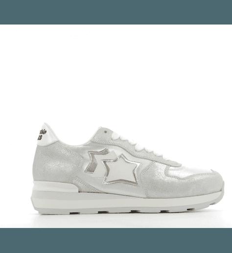 Sneakers en toile et suède Vega silver - Atlantic stars
