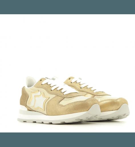 Sneakers en toile et suède Vega gold - Atlantic stars