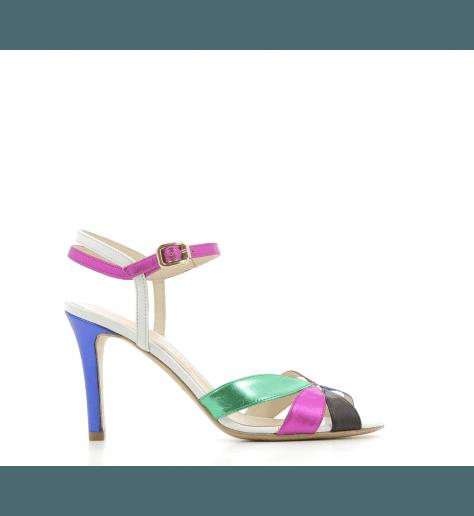Sandales en cuir multicolore 5591 - Fauzian Jeunesse