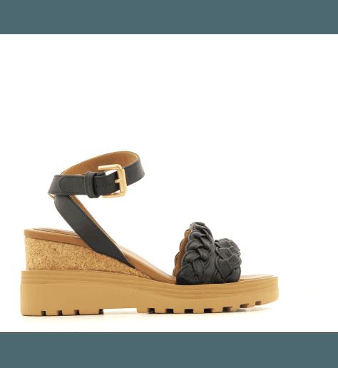 Sandales en cuir noir SB28172 - See By Chloé