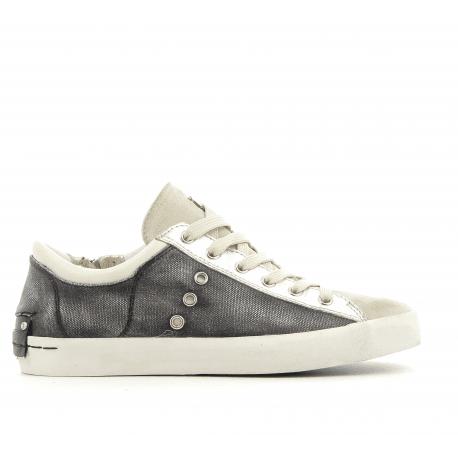 Sneakers en cuir anthracite 25005- Crime London