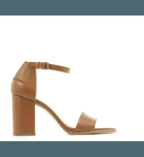 Sandales en cuir camel VB28053 - Veronique Branquinho