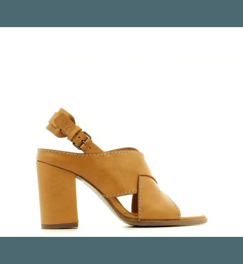 Sandales en cuir camel  VB28021 - Veronique Branquinho