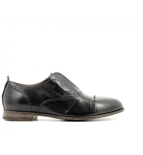 Derbies à enfiler cuir noir 41705- Moma