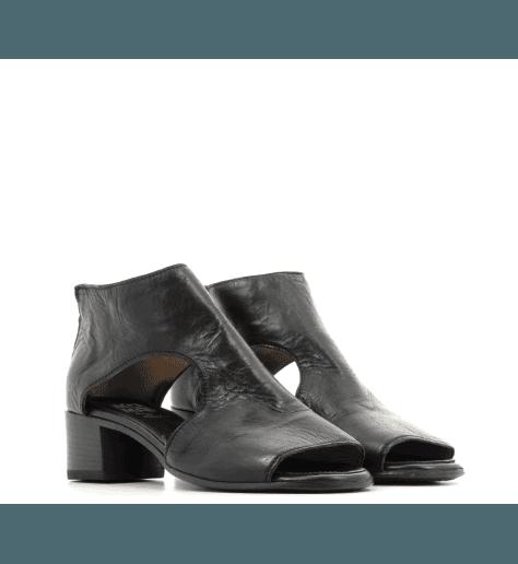 Sandales découpes symetriques noires 48701N- Moma