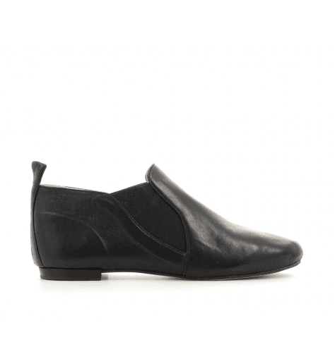 Bottines ballerines en cuir noir ORIANA1- OPERA NATIONAL DE PARIS