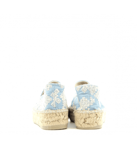 Espadrilles en toile bleu et blanc YUCATAN1- MANEBI