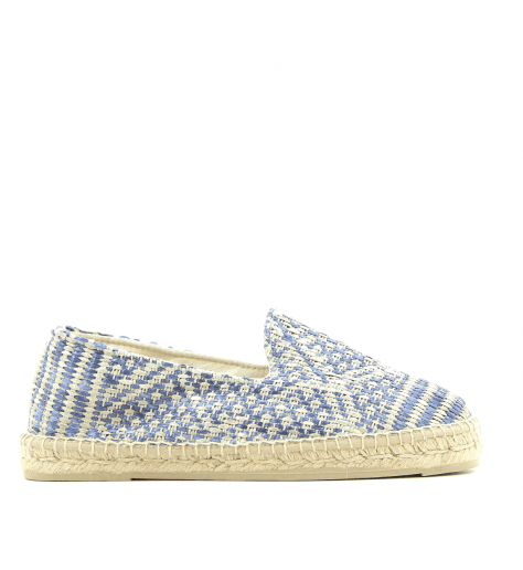 EspadrillesHommes en toile bleu et blanc YUCATAN4- MANEBI