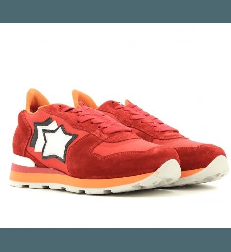 Sneakers en toile et suède pour hommes ANTAR RED - Atlantic stars