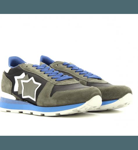 Sneakers en toile et suède pour hommes SIRIUS KHAKI - Atlantic stars