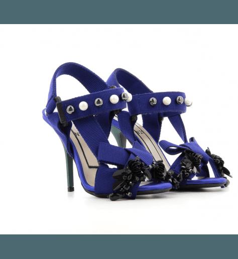 Sandales à talons hauts bleu cobalt  8331 - N°21 Numero Ventuno