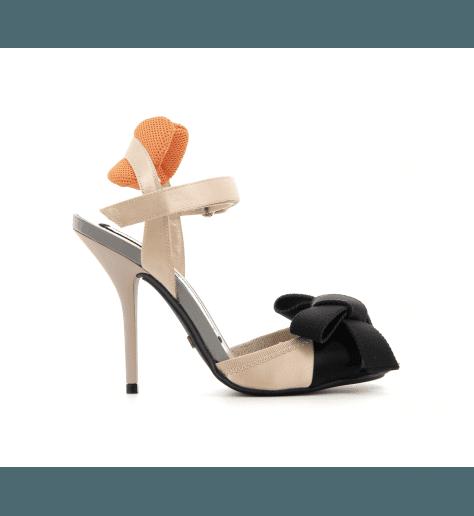 Sandales à talons hauts nude et noir 8322 - N°21 Numero Ventuno