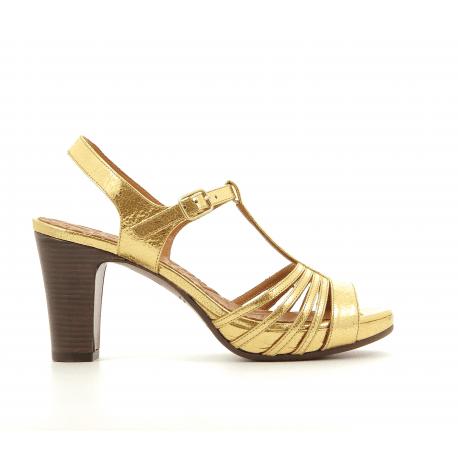 Sandales à talons en cuir doré FIDELI30DO - Chie Mihara