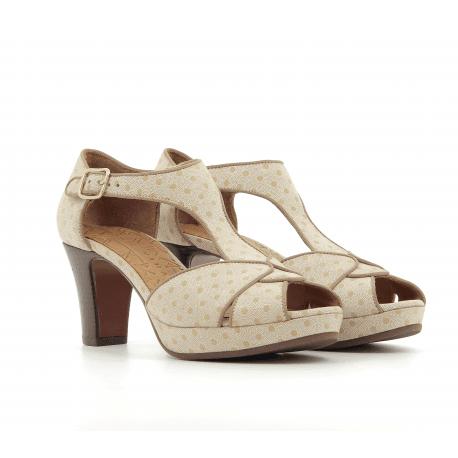 Sandales à talons avec plateformes beige - Chie Mihara