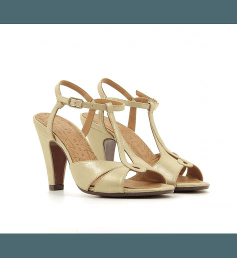 Sandales à talons avec plateformes doré VASYA30DO - Chie Mihara