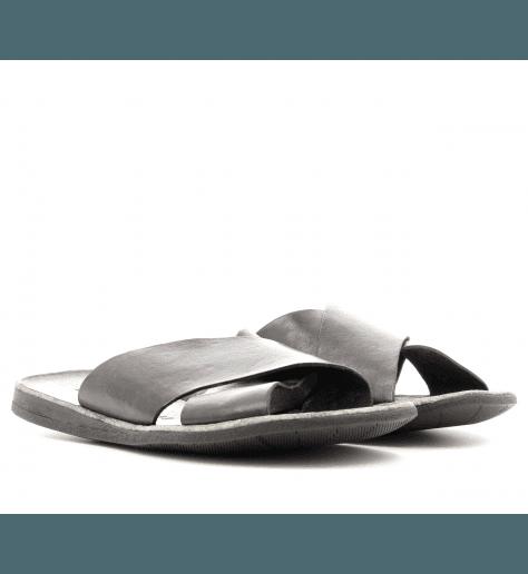 Sandales plates en cuir marron 46-510 - Brador