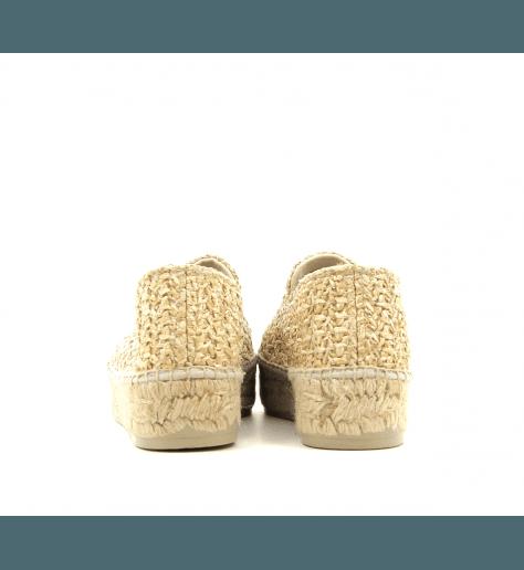 Espadrilles en toile beige YUCATAN2- MANEBI