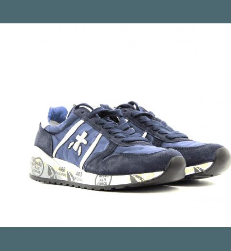 Sneakers plates en patchwork Bleu Diane2179 - Premiata