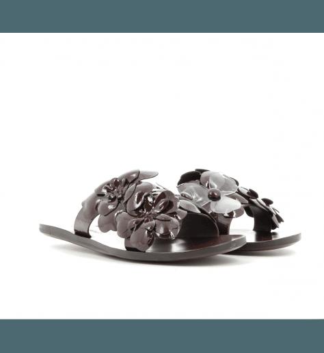 Sandales à plate bordeaux SB28201 - See By Chloé