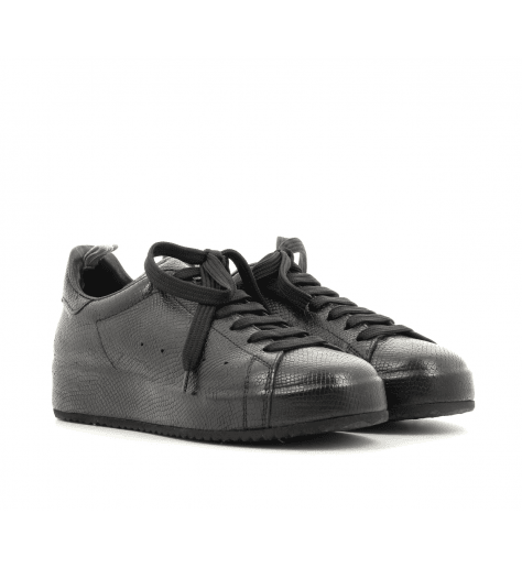 Sneakers ou baskets plates noires ACE/011BLACK - Officine Créative