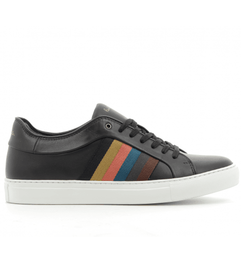 Sneakers en cuir noir brodé IVO - PAUL SMITH MEN
