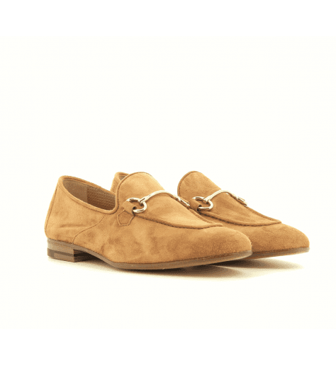 Mocassins en velours camel D022C - Henderson