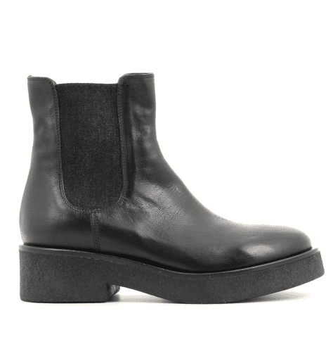 Boots en cuir marine 3953 Fru.it now  - Garrice Collection