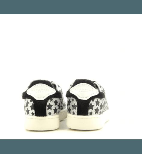 Sneakers glitter argent et noir JCONNORS STAR - Serafini