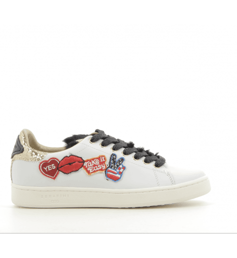 Sneakers en cuir blanc  JCONNORS05 - Serafini