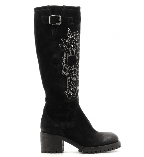 "Bottes noires ""tête de mort"" 4314 Fruit now  - Garrice Collection"