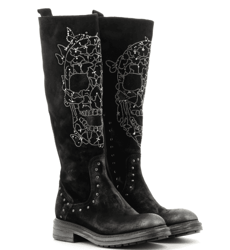 "Bottes noires ""tête de mort"" 3969 Fruit now  - Garrice Collection"