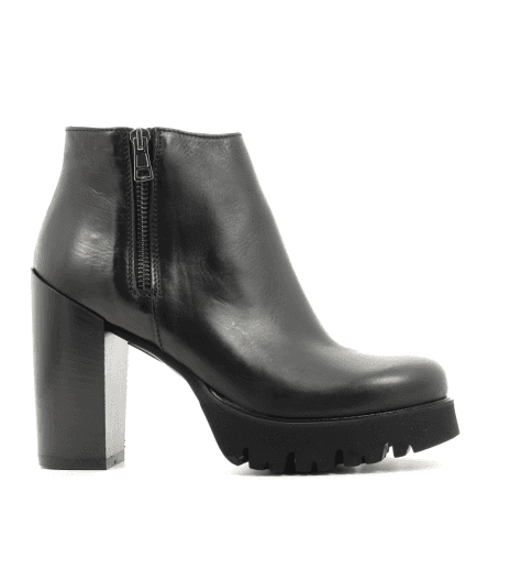 Bottines noires en cuir 4225 fruit now - Garrice collection
